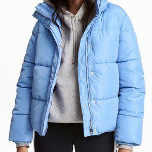 Oversized Light Blue Padded Jacket